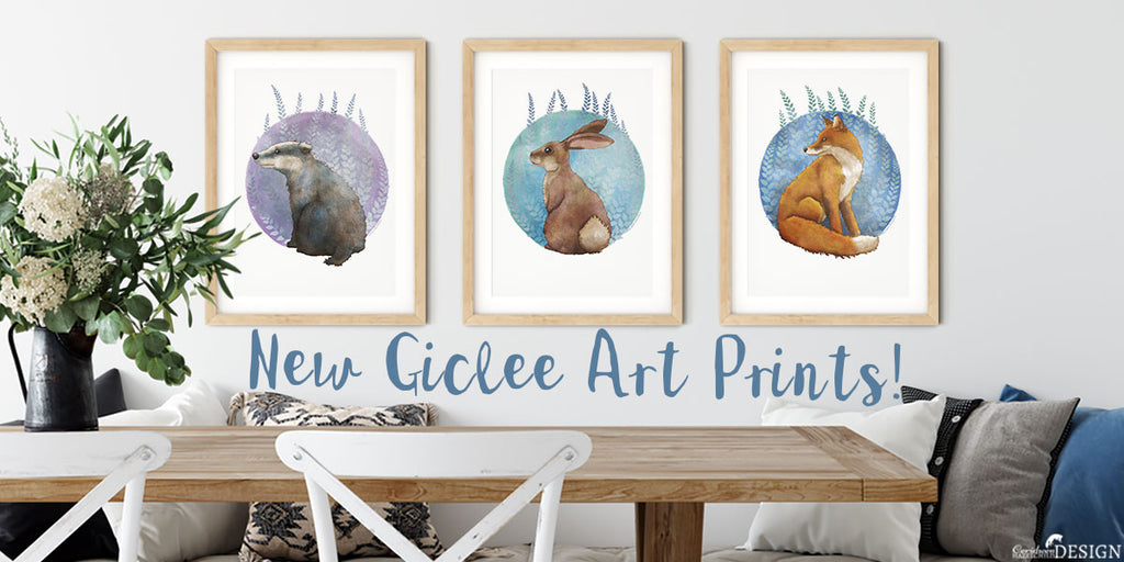 Woodland Animal Art Prints by Ceridwen Hazelchild