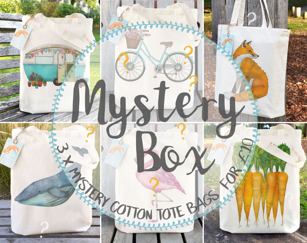 MYSTERY BOX - Seconds and End of Line Tote Bags
