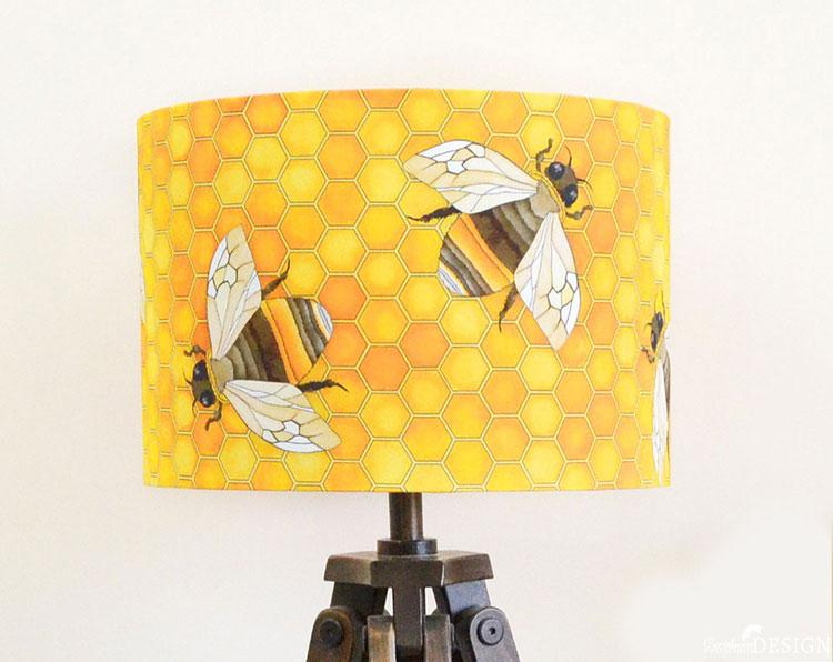 Bee Lampshade by Ceridwen Hazelchild Design