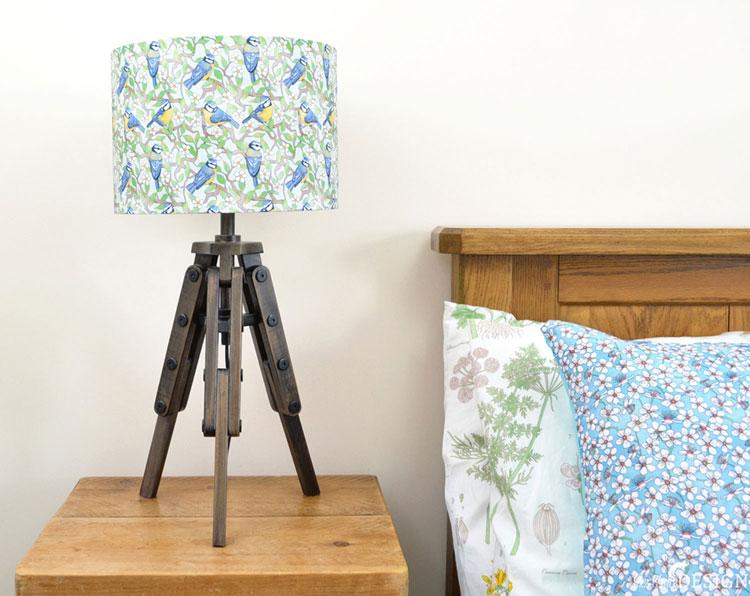 Blue Tit Lampshade by Ceridwen Hazelchild Design
