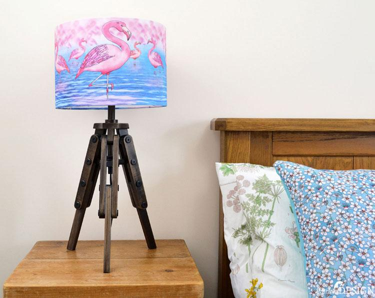 Flamingo Lampshade by Ceridwen Hazelchild Design