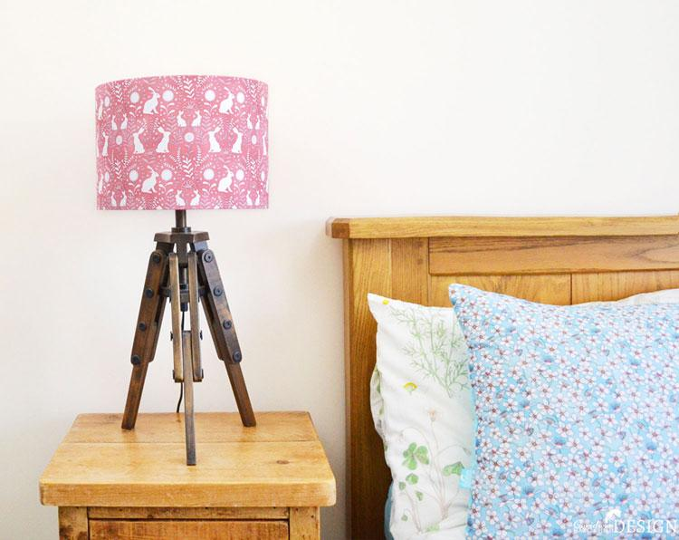 Floral Hare Lampshade by Ceridwen Hazelchild Design