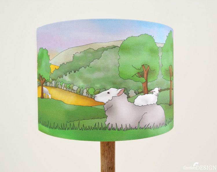 Sheep Lampshade by Ceridwen Hazelchild Design