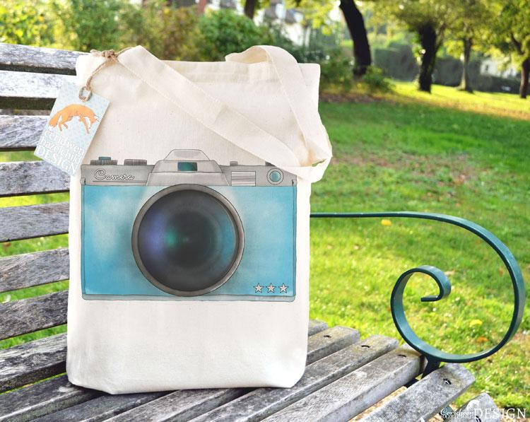 Camera Tote Bag by Ceridwen Hazelchild Design.