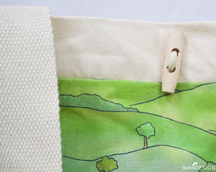 Countryside Large Canvas Tote Bag by Ceridwen Hazelchild Design.