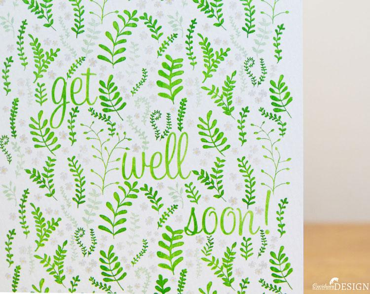 Fern Get Well Soon Card by Ceridwen Hazelchild Design.