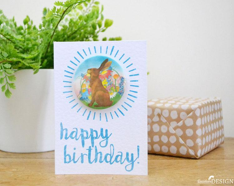 Hare Birthday Badge Card