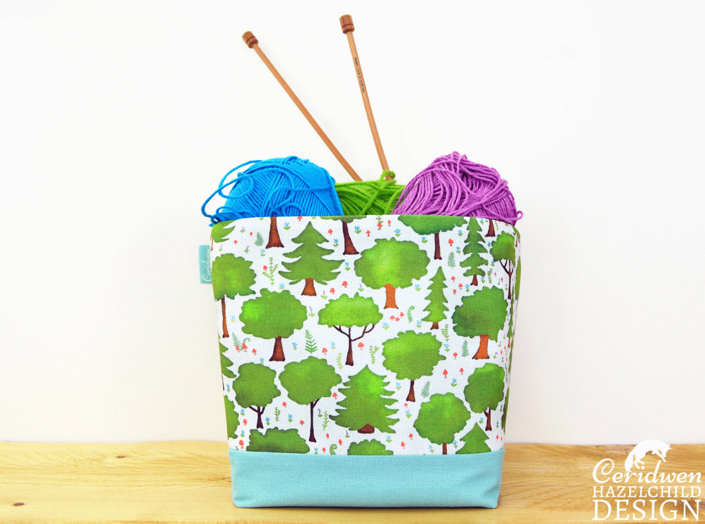 Woodland Trees Fabric Storage Box