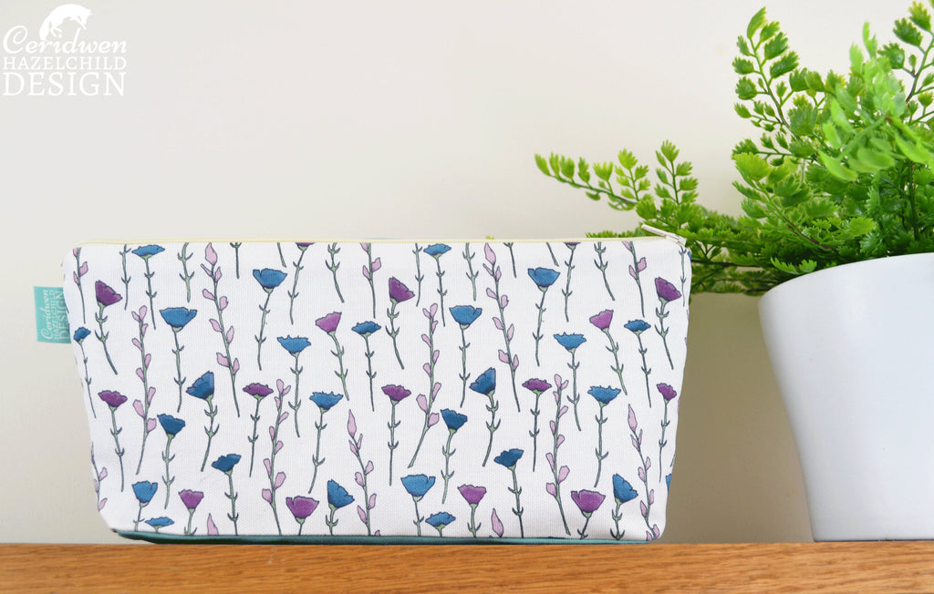 Flowers Pattern Toiletry Wash Bag