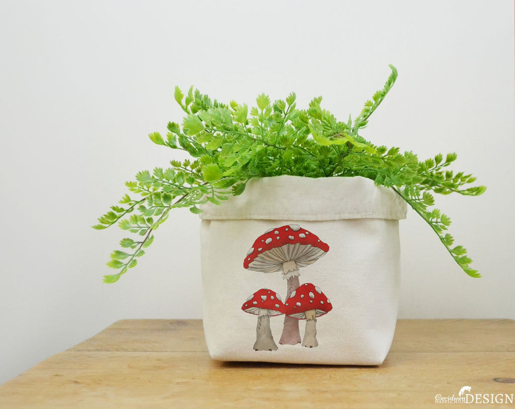 Toadstool Canvas Storage Box by Ceridwen Hazelchild