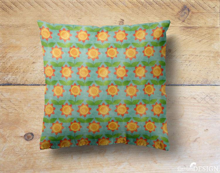 Floral Cushion Cover by Ceridwen Hazelchild Design.