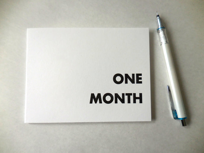 One Month Letterpress Planner