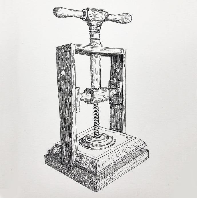 Book Press - Ink on Paper