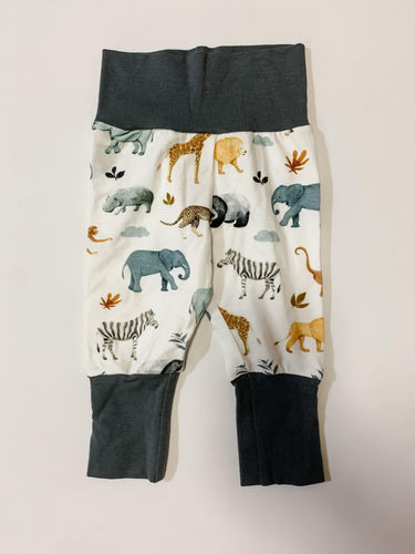 Grow With Me Pants Newborn to 9 Months Safari