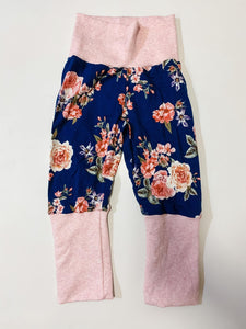 Grow With Me Pants 9 months - 3 years Vintage Floral