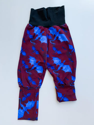 Grow With Me Pants 9 months - 3 years Blue Dragons in Fire