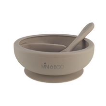 Load image into Gallery viewer, Mini and Boo Silicone Sectioned Suction Bowl Set - Cinnamon