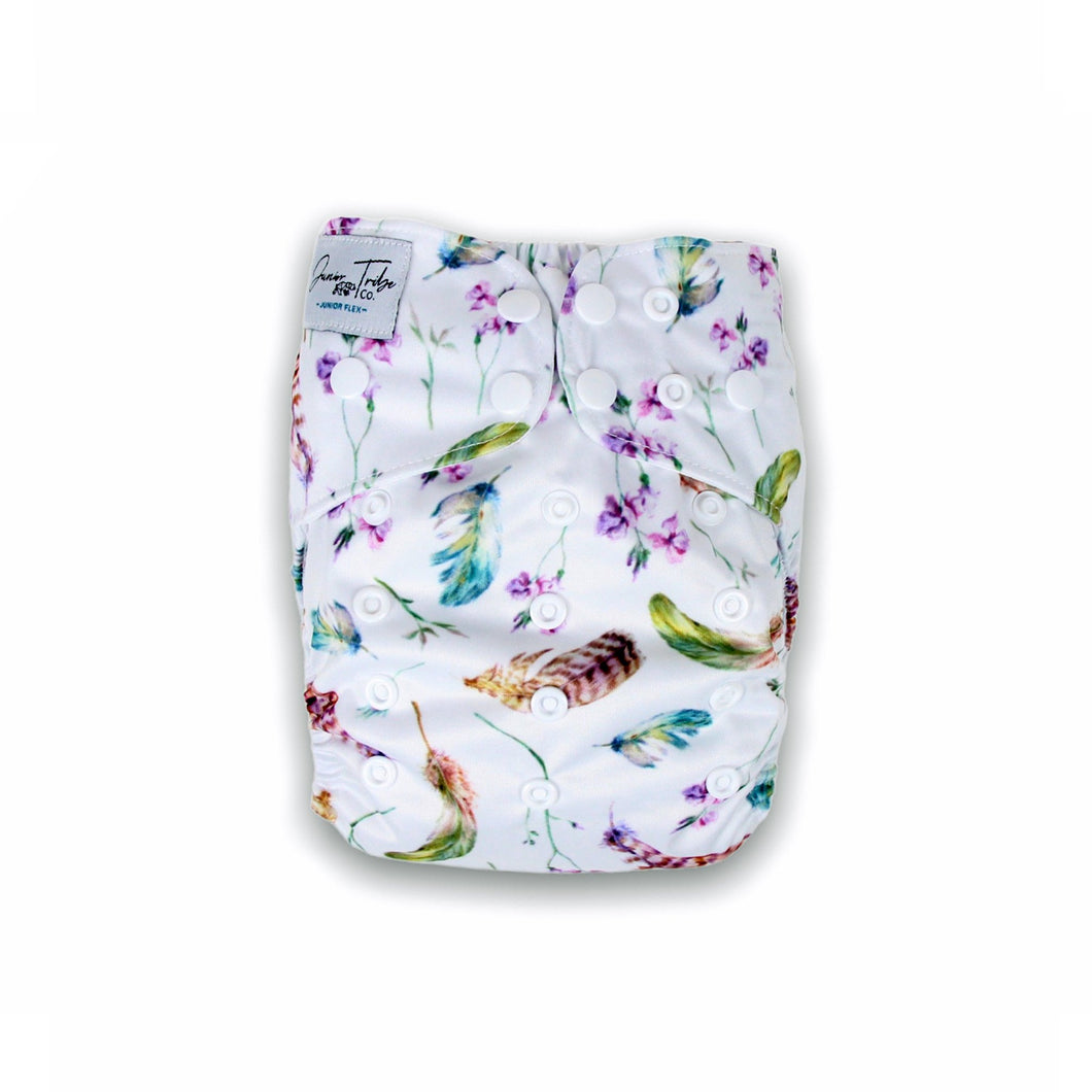 Junior Tribe Co Flex Cloth Nappy Feathery