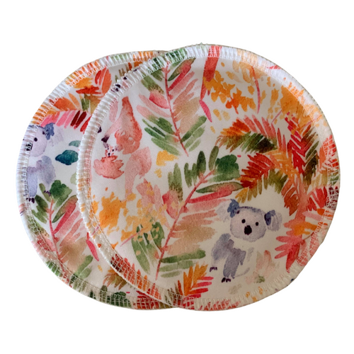 Bare and Boho Reusable Breast Pads Fauna