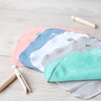 Baby Beehinds Organic Cotton Cloth Wipes - The Nappy Bucket