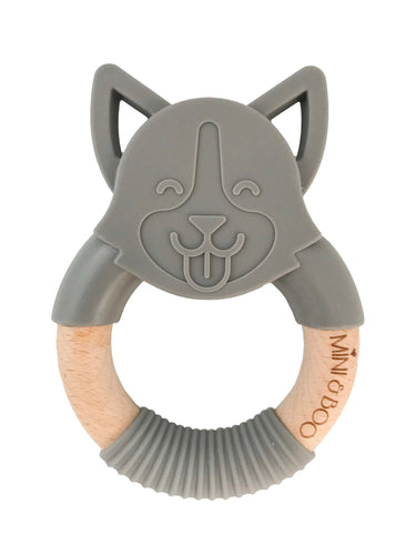 Mini and Boo Dog Teether Grey
