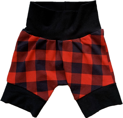 Grow With Me Shorties 9 months - 3 years Buffalo Plaid