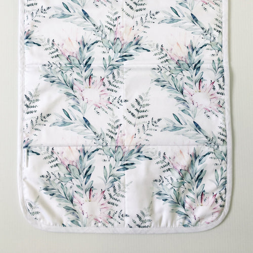 Snuggle and Squish Travel Change Mat - Watercolour Protea