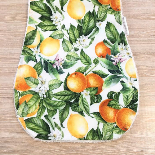 Snuggle and Squish Bamboo Burp Cloth - Citrus Blossom