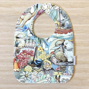 Snuggle and Squish Bamboo Feeding Bib - May Gibbs May's Tales