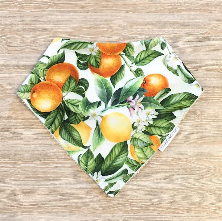 Snuggle and Squish Bamboo Dribble Bib - Citrus Blossom