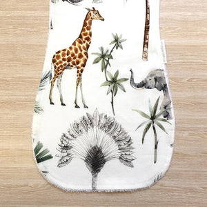 Snuggle and Squish Bamboo Burp Cloth - Safari