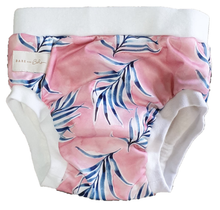 Load image into Gallery viewer, Bare and Boho Reusable Training Pants Large Santorini Palms