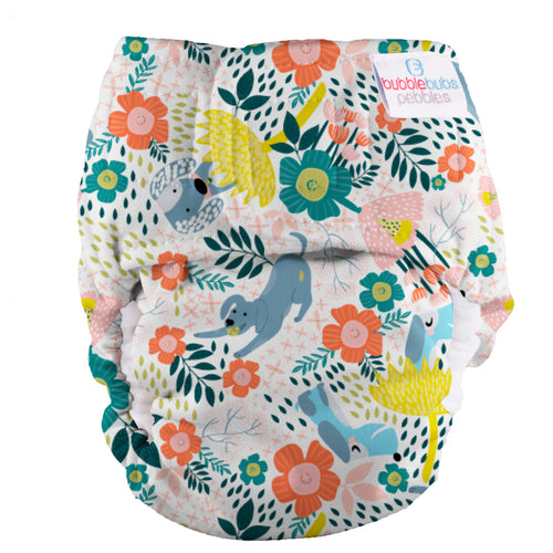 Bubblebubs Pebbles Newborn Nappy Fetch minky