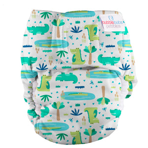 Bubblebubs Pebbles Newborn Nappy Swamp (Crocodiles) PUL