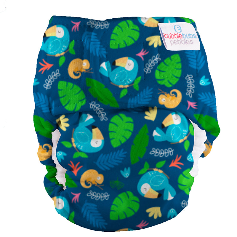 Bubblebubs Pebbles Newborn Nappy Toucan Sam (Toucans) PUL