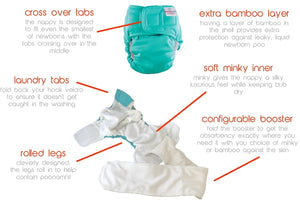 Bubblebubs Newborn Trial Pack - The Nappy Bucket