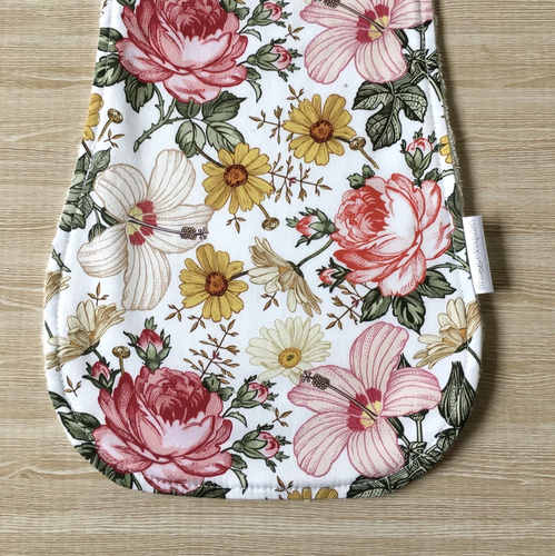 Snuggle and Squish Bamboo Burp Cloth - Evie Pink