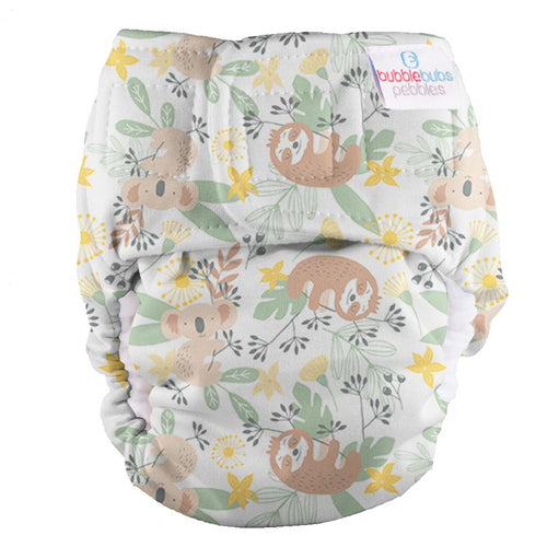 Bubblebubs Pebbles Newborn Nappy Walkabout Minky