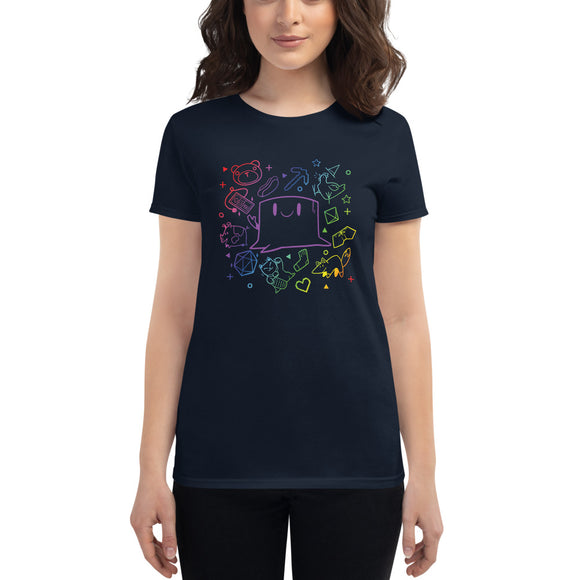 Rainbow Stumpt Ladies Cut T-Shirt