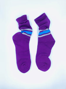 Reflection Ribbed Socks Purple