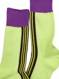 Front Line Socks Lime