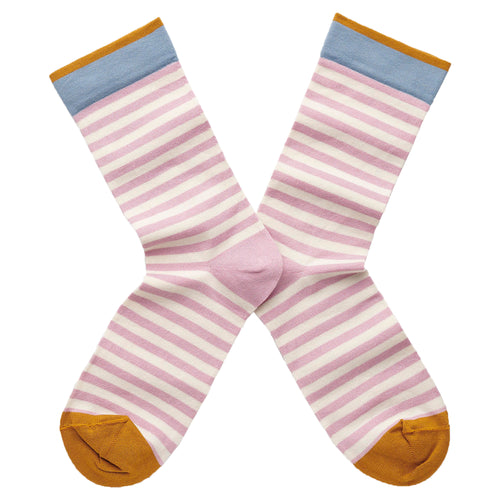 Stripe Socks Rosewood