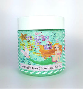 Mermaids Love Glitter Whipped Sugar Scrub VEGAN