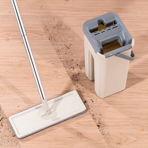 Microfiber Mop With Self-Wash And Quick-Dry Bucket