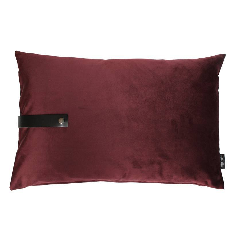 louise smaerup pute velour bordeaux 80x50