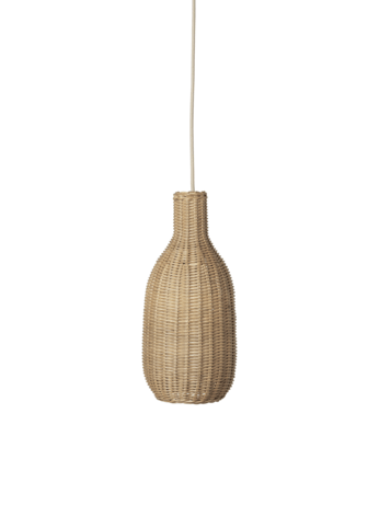 ferm living bottle flettet lampe natural