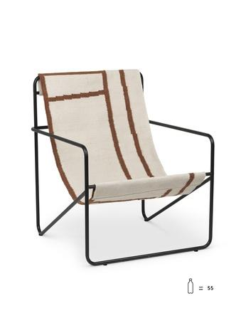 ferm living desert loungestol black shapes