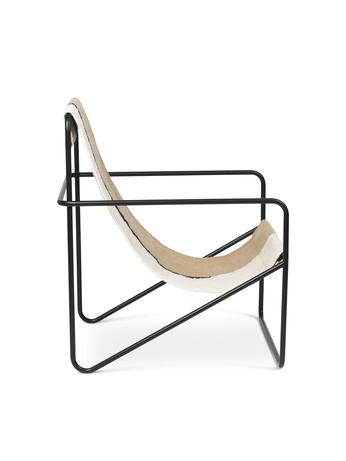 ferm living desert loungestol black soil