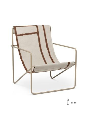 ferm living desert loungestol cashmere shapes