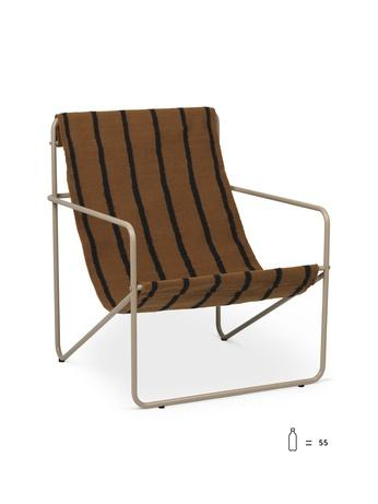 ferm living desert loungestol cashmere stripes